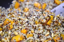 Roasted butternut squash quinoa with browned butter and sage