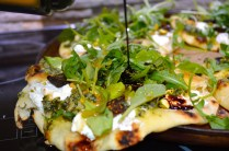 Ricotta, Fig, Pistachio Pizza with Balsamic & Honey