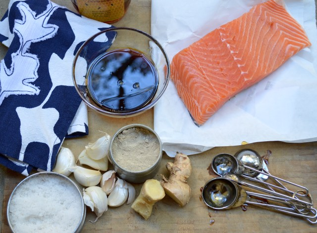 Ingredients for Asian Inspired Salmon