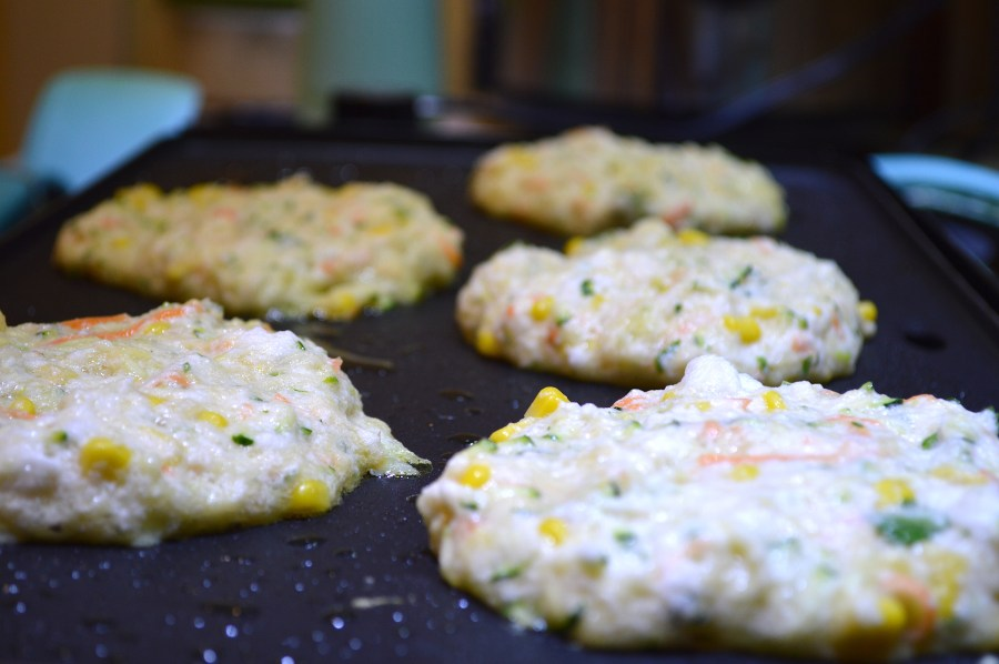 Vegetable Fritters on the Grill 1