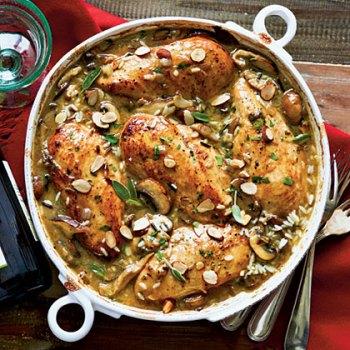 Chicken and Mushroom with Sage Casserole