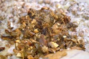 Adding Rehydrated Porchini Mushrooms