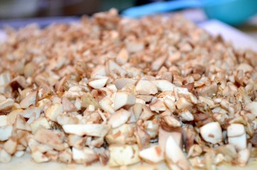 Chopped White Mushrooms