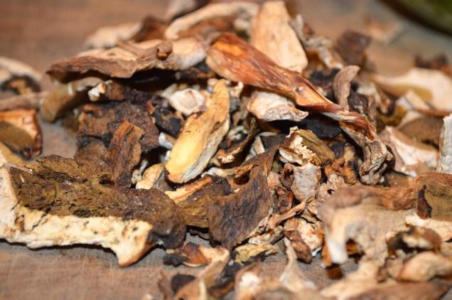 Dried porcini mushrooms for use in Italian Mushroom and Pea Risotto