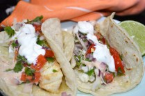 Copycat recipe for Tommy Bahama fish tacos found in post titled, 'Beaches, Beers and Tacos'