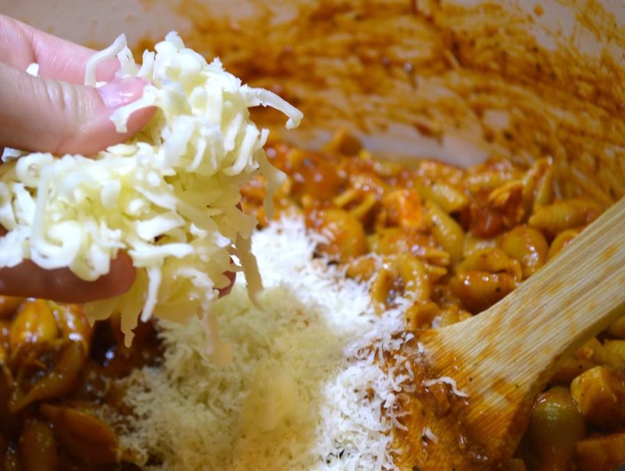 Add Shredded Mozzarella