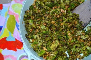 Amazing Roasted & Charred Broccoli with Peanuts & Nutritional Yeast