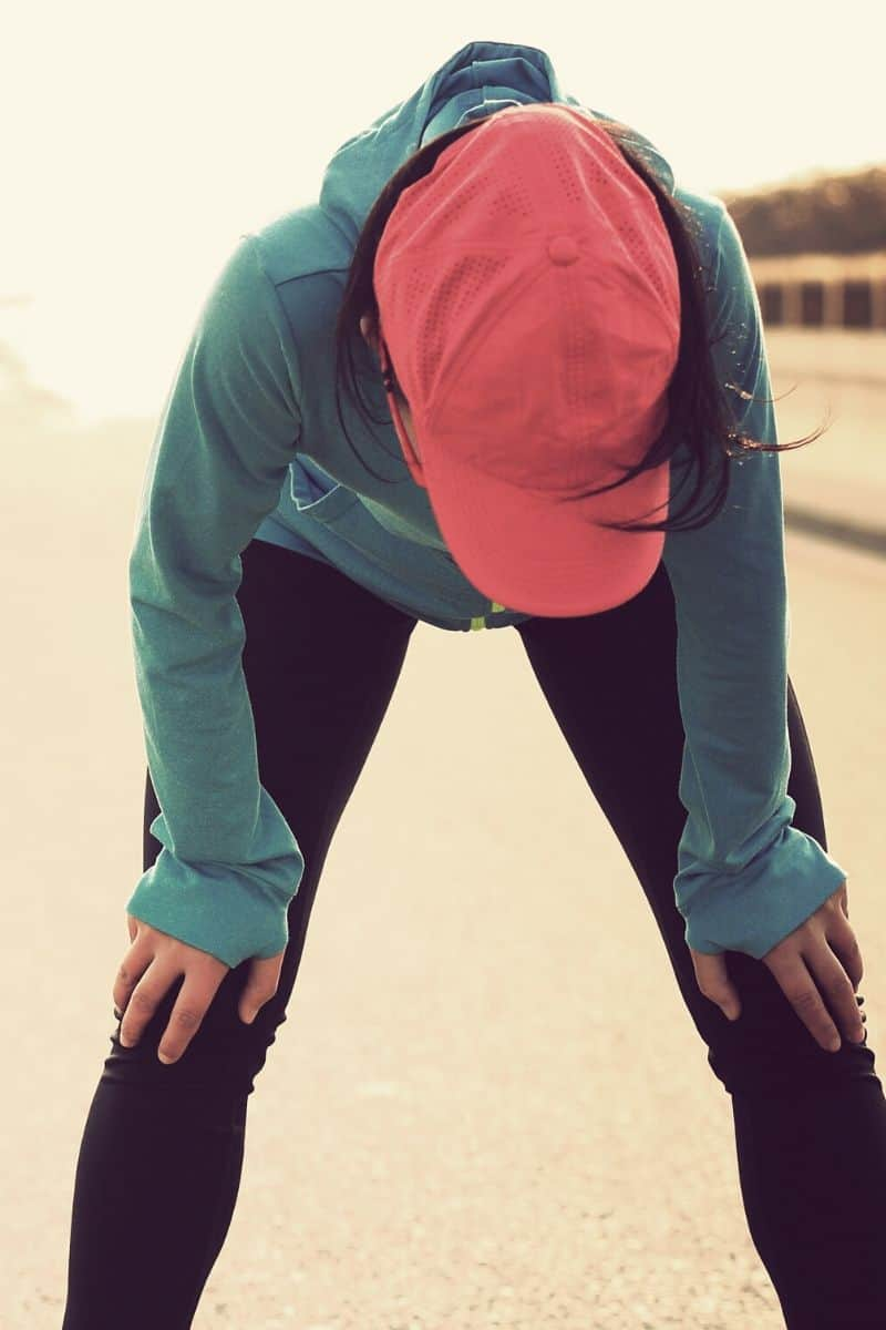woman tired after a run
