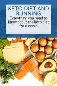Keto and running diet graphic