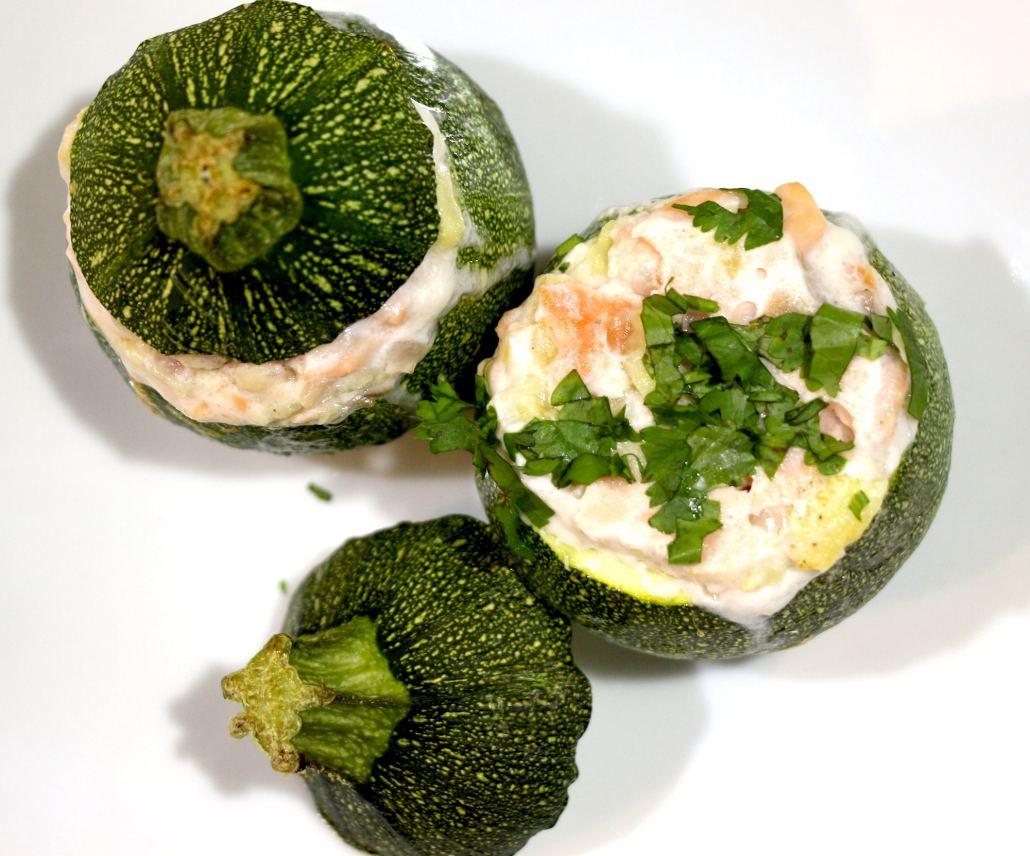 courgettes farcies aux deux saumons