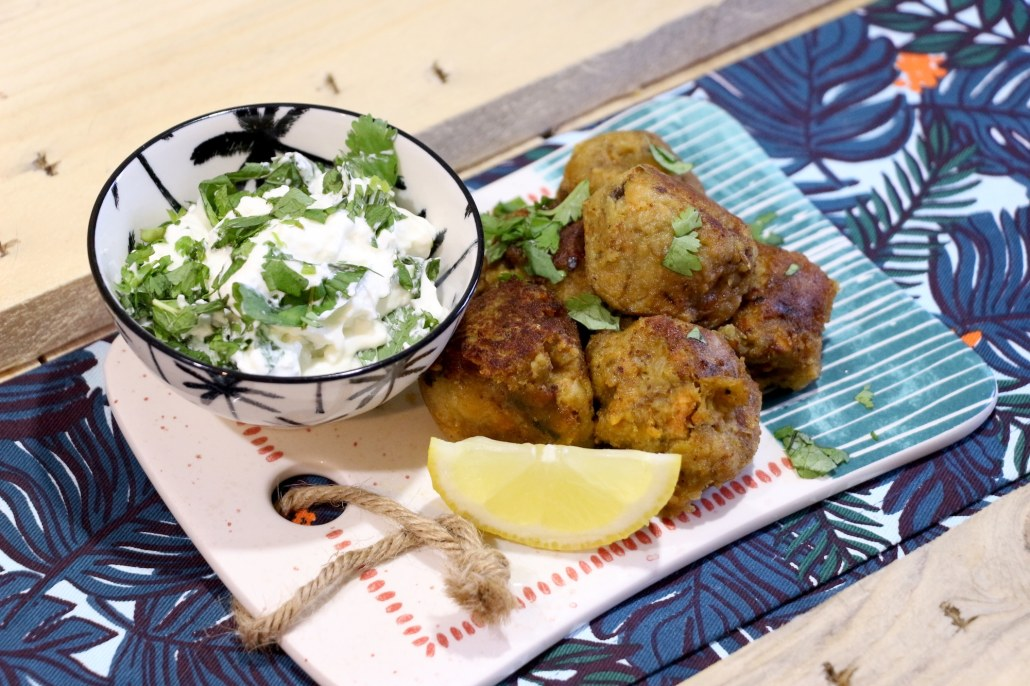 falafels de patate douce et aubergine
