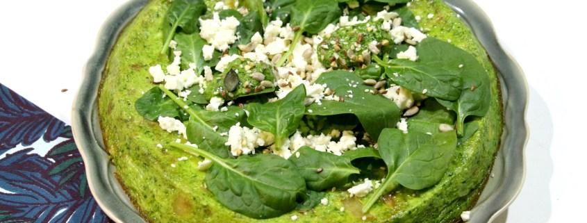 frittata aux épinards poireaux et féta