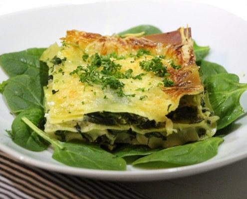 lasagnes sans béchamel au chèvre et épinard