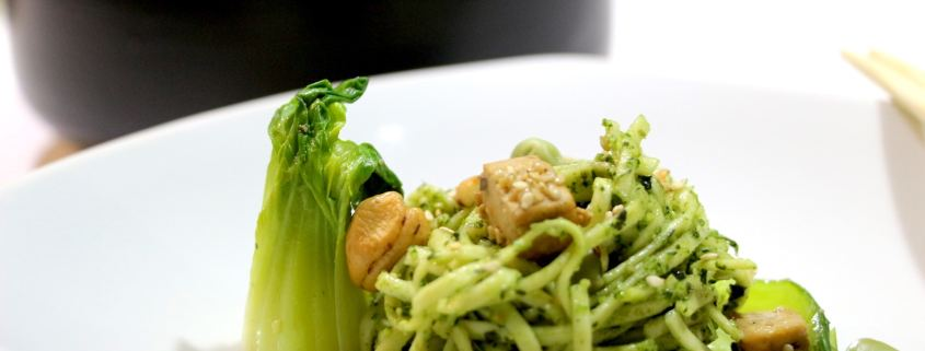 noodles au pesto thaï de cajou