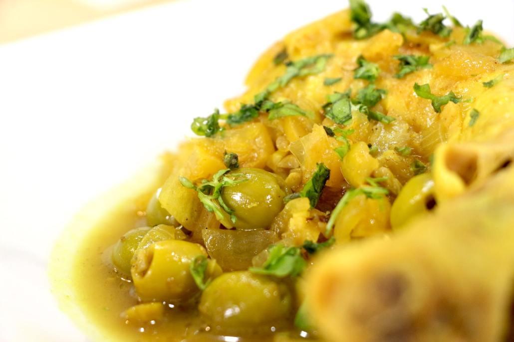 poulet au citron confit olives et coriandre