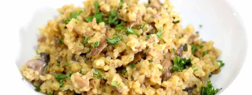 risotto de boulgour aux cèpes