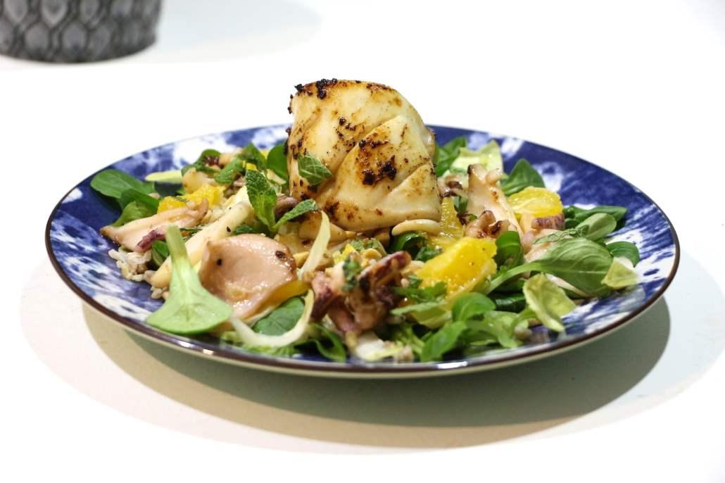 salade aux encornets et orange