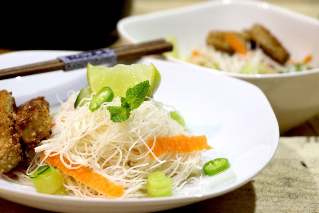 salade thaï de vermicelles et tofu