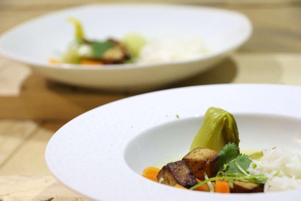 soupe asiatique aux agrumes et tofu