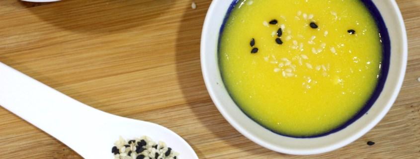 velouté de poivron jaune au sésame