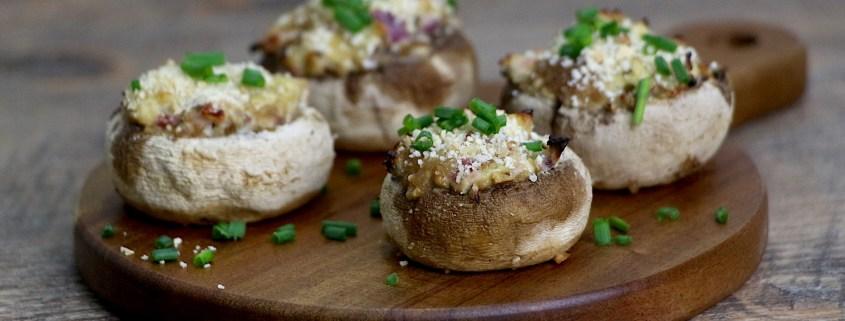 champignons farcis au jambon