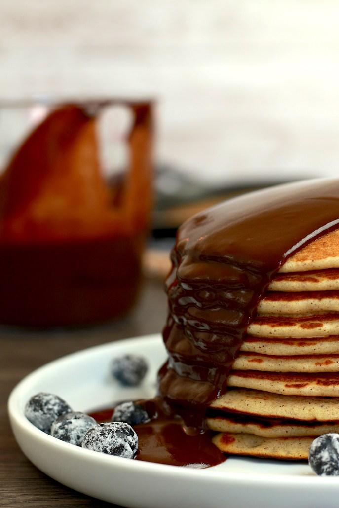pancakes sans gluten sauce chocolat