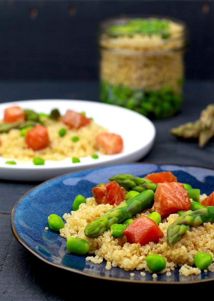 salade de printemps aux asperges et fèves