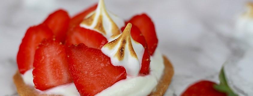tarte légère aux fraises et meringue