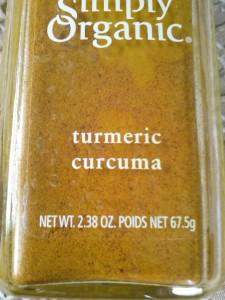 67.5 g bottle of turmeric
