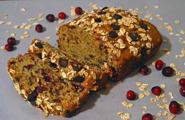 Orange Cranberry Oat Bread