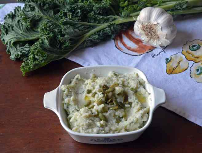 Roasted Garlic & Herb Cauliflower Mash