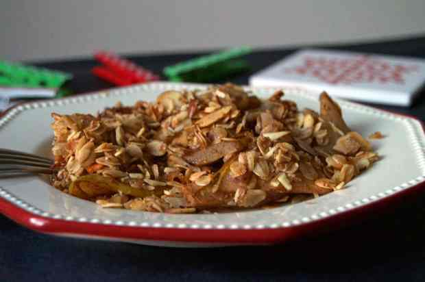 Baked Almond & Oat Pear Crumble 2