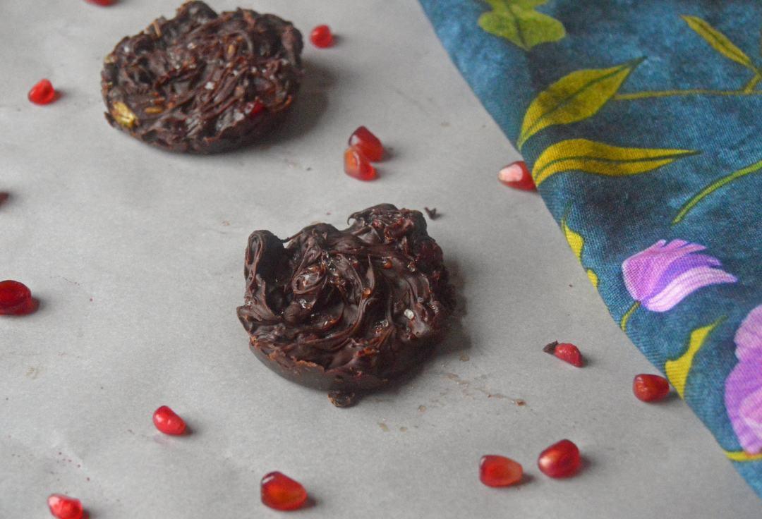 Chocolate Pomegranate Love Nests