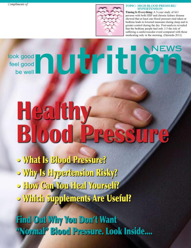 Nutrition News Healthy Blood Pressure