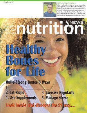 Nutrition News Women's Health Series Building Healthy Bones for Life