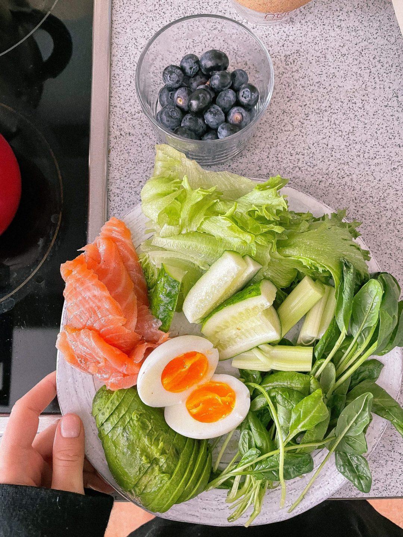 Well Balanced Alkaline Plate of Food