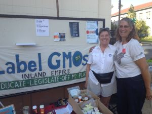 Siri Khalsa + Christine Lampe in IE Label GMO Booth