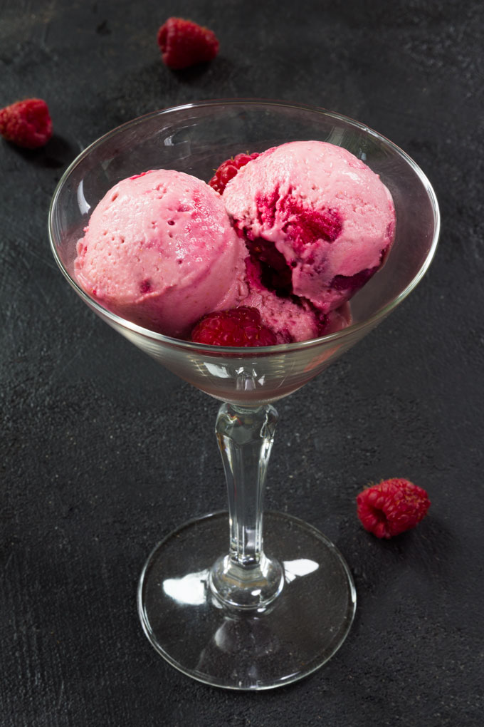 vegan berry ice cream
