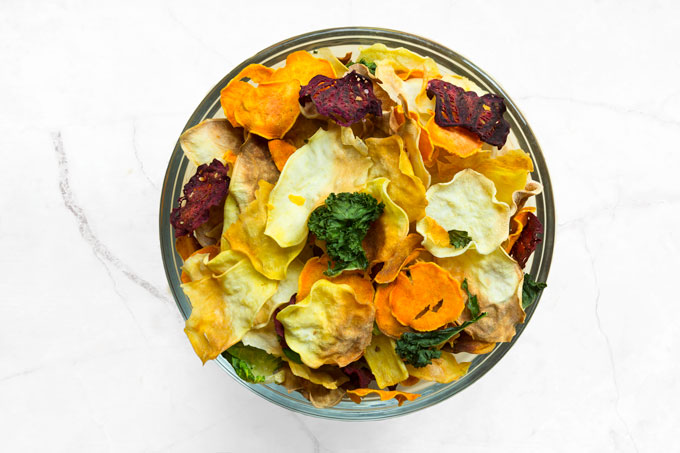 homemade vegetable chips - oven-baked, healthy