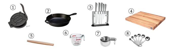 kitchen tools for psyllium flatbread