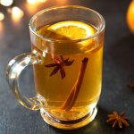 mulled apple cider made from fresh apples