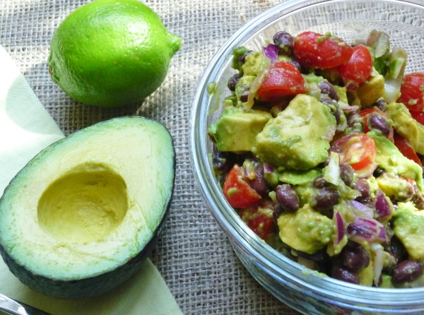 Avocado, Black Bean and Tomato Salad