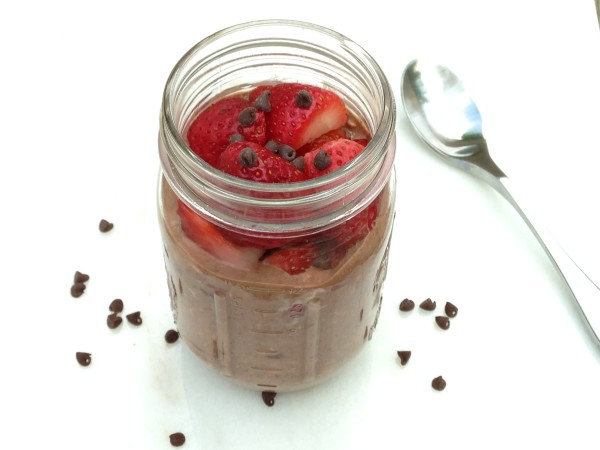 Chocolate Covered Strawberry Overnight Oats