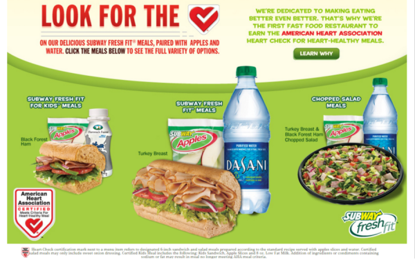 AHA Heart Healthy Meals- SUBWAY
