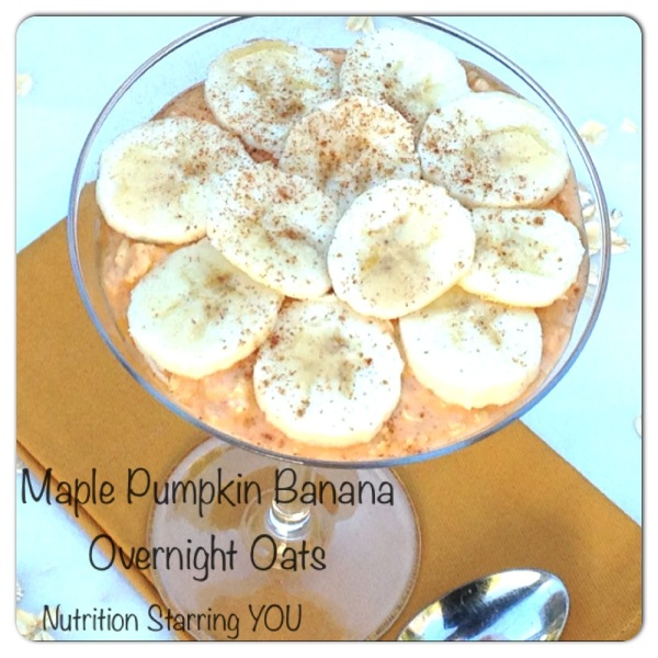 Maple Pumpkin Banana Overnight Oats