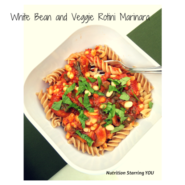White Bean and Veggie Rotini Marinara