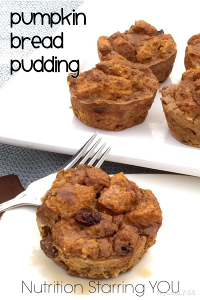 Pumpkin Bread Pudding Cups