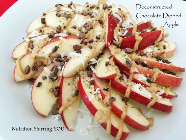 Deconstructed Chocolate Dipped Apple