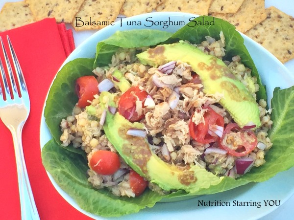 Balsamic Tuna Sorghum Salad