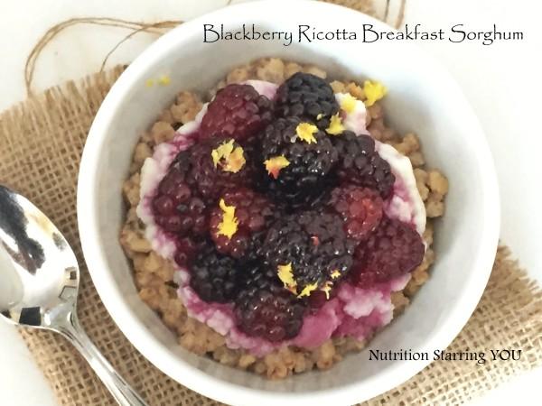 Blackberry Ricotta Breakfast Sorghum